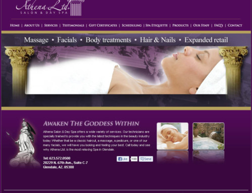 Athena Salon & Day Spa: Website Design