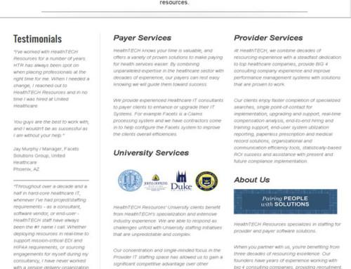 Health Tech Resources: Website Design